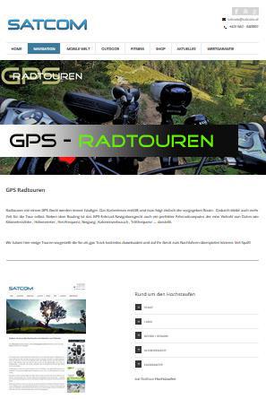 GPS-Touren für Fahrradfahrer